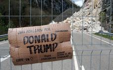 Donald Trump en el argayo de Caso
