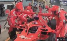 Gran Premio de Baréin | Raikkonen se retira tras atropellar a uno de los mecánicos de Ferrari
