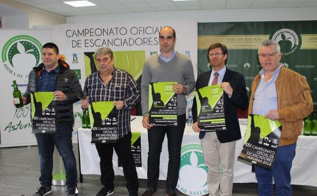 El Campeonato de Asturias de Escanciadores incluirá una prueba tipo test sobre la sidra