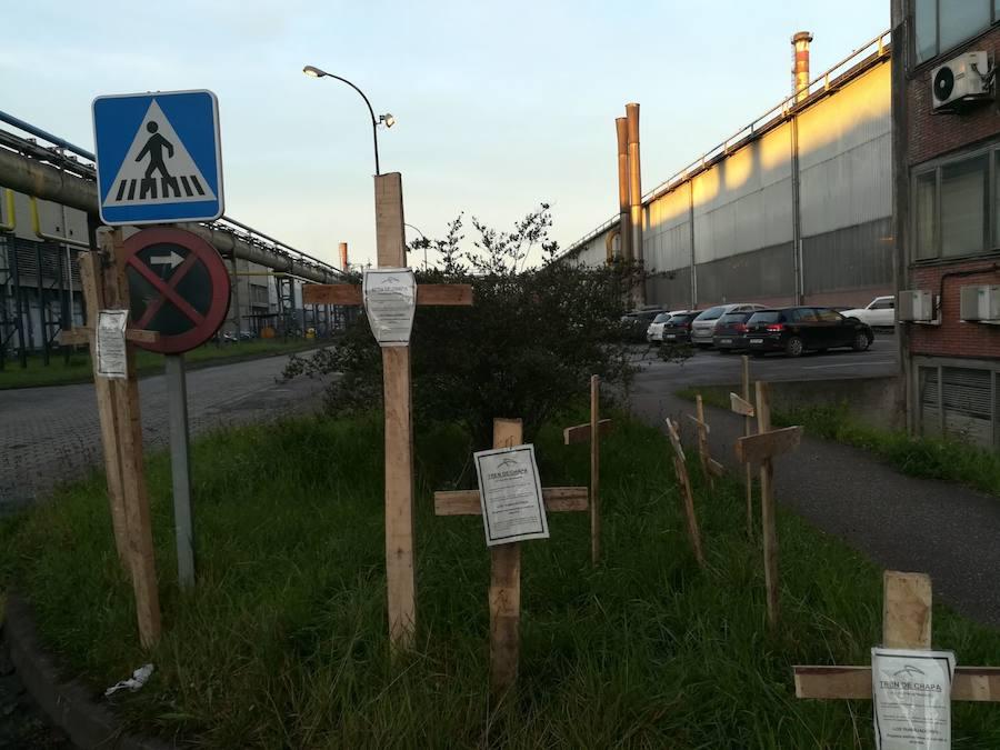 Cruces para el comité de empresa de Arcelor en Gijón