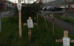 Arcelor abrirá una investigación por las cruces aparecidas en la factoría de Gijón