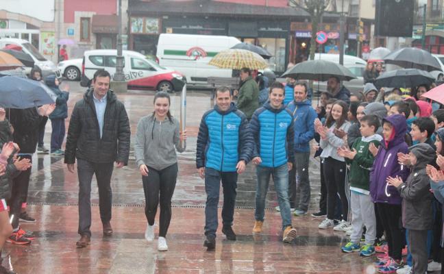 Antorcha olímpica solidaria en Cangas