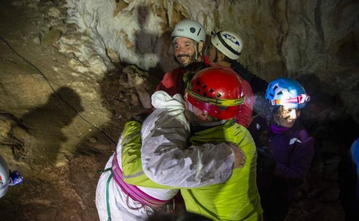 Así fue la reacreación del hallazgo de la cueva de Tito Bustillo