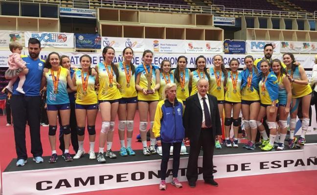Asturias, oro cadete en voleibol