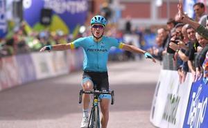 Victoria y liderato de Pello Bilbao en el Tour de los Alpes