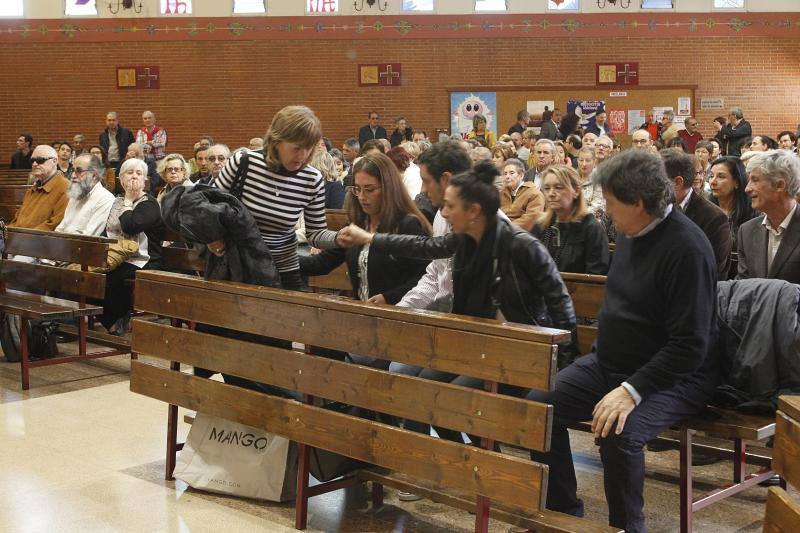Funeral por el montañero fallecido Arturo Larroza