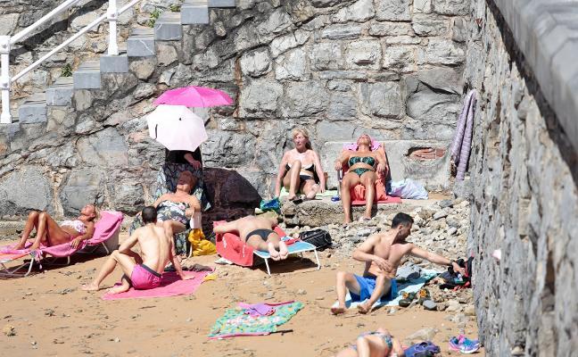 Los termómetros suben seis grados en Asturias
