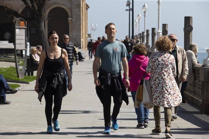 Los termómetros se disparan en Asturias en abril
