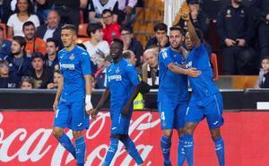 El Getafe se le atraganta al Valencia