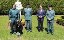 'Xira', una perra de la Guardia Civil para vigilar el Centro Asturiano de Oviedo