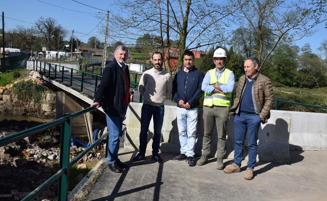 Comienza la reconstrucción del puente dañado por la crecida del río Nora