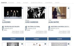 Cultura crea un nuevo portal web para vender entradas