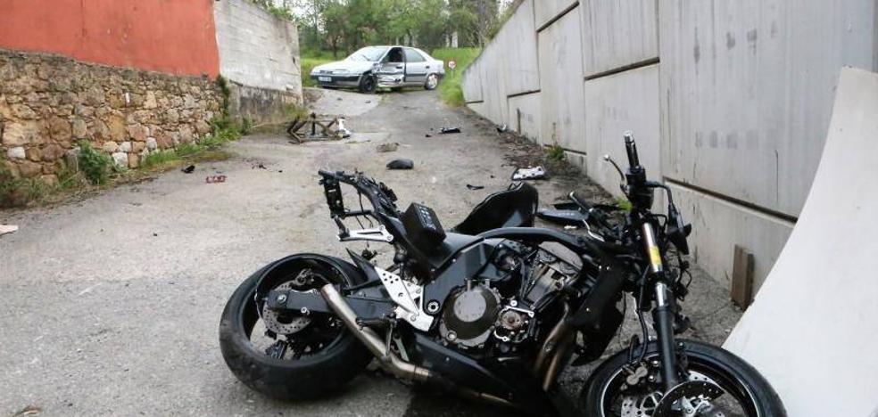 Fallece un motorista de 33 años en un accidente en Siero