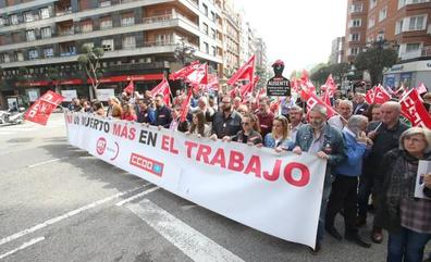 CC OO y UGT se manifestarán el 26 de abril en Oviedo en defensa de la seguridad en el trabajo