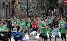 Marea verde contra el cáncer por las calles de Oviedo
