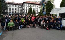 Una treintena de policías inicia una marcha a pie a Madrid por la igualdad salarial