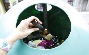 Cada asturiano recicló una media de 58 envases de vidrio por persona en 2017