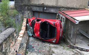 Cuatro heridos en un espectacular accidente en San Martín del Rey Aurelio