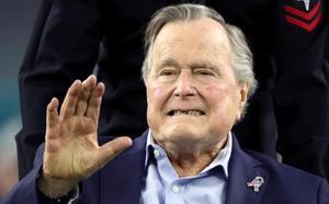 El expresidente de EE UU George Bush, hospitalizado tras el funeral de su esposa