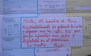 Si tienes un accidente, «no te hagas un Paco», advierte la Guardia Civil