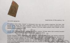 La carta en la que ETA anuncia su disolución