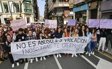 Los estudiantes asturianos, contra la sentencia de 'La Manada': «No es abuso, es violación»