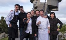 Berasategui, Fina Puigdevall, Pepe Ron y Eneko Atxa cocinan en Casa Marcial