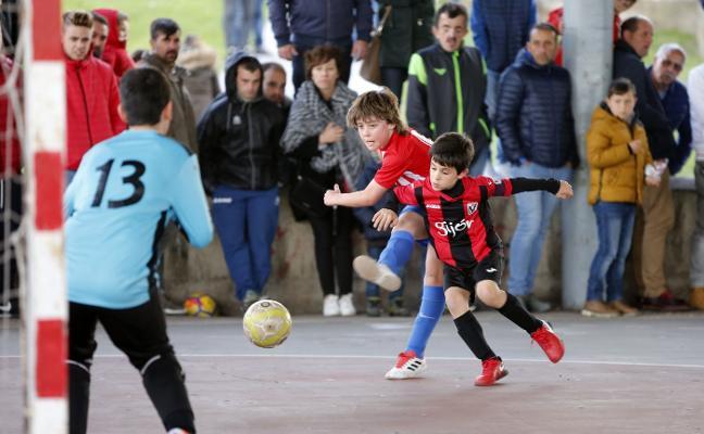 Paso adelante del Sporting en la Liga Benjamín