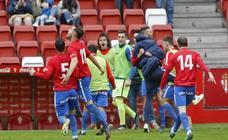 El Sporting B - Arenas, en imágenes