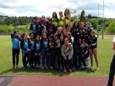 Los cadetes del Ciudad de Lugones hacen doblete en el Campeonato de Asturias