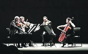 Bartok y Schubert suenan en el Jovellanos de la mano del Cuarteto Quiroga