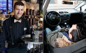 'Suso', de la calle a trabajar como camarero en El Cafetón