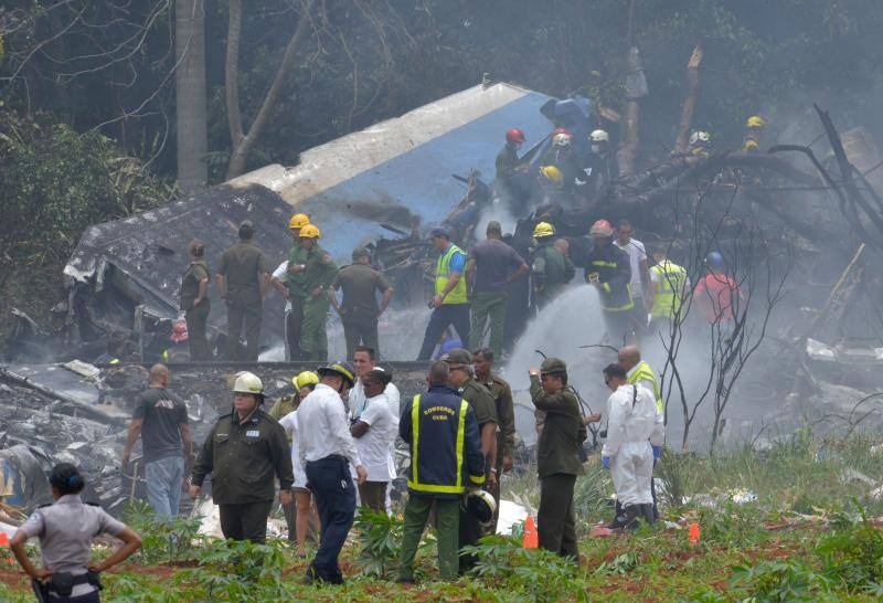 Un avión se estrella en la Habana con 104 pasajeros a bordo