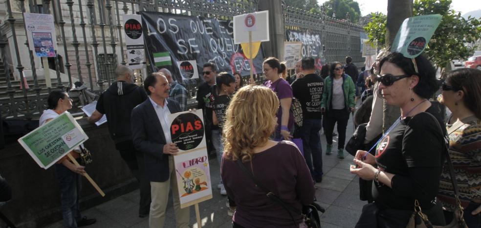 Protesta del personal interino