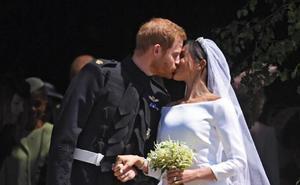 Meghan Markle y el príncipe Enrique, marido y mujer