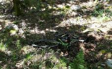 Herido un ciclista tras salirse de la vía en Salas
