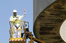 Comienzan los trabajos de restauración en el 'Elogio del Horizonte'