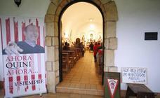 Homenaje a Quini en la capilla de La Providencia