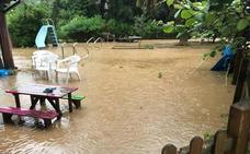 Las fuertes lluvias provocan inundaciones en varios puntos de Asturias
