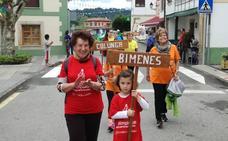 Desfile olímpico en Santolaya de Cabranes