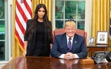 Trump recibe a Kim Kardashian