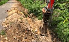 Inician las obras de renovación del saneamiento de Nuña