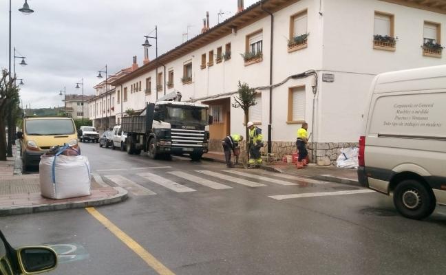Comienzan las obras en el barrio de Bustillo