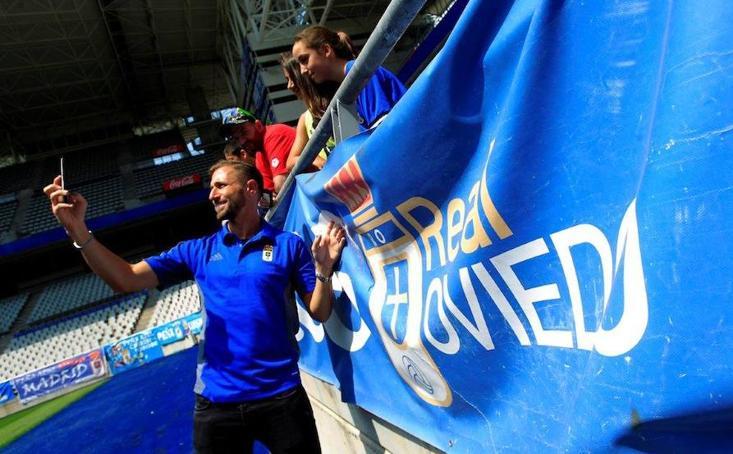 Presentación de Nahuel Valentini como nuevo jugador del Real Oviedo
