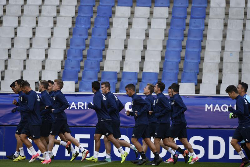 Entrenamiento del Real Oviedo (11/08/17)