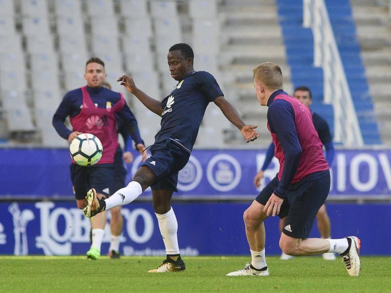 Entrenamiento del Real Oviedo del 23 de septiembre de 2017