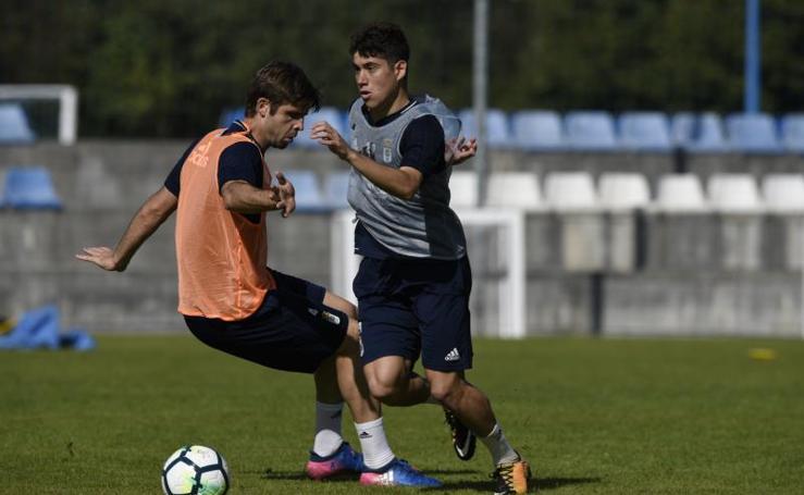 Entrenamiento del Real Oviedo (28/09/17)