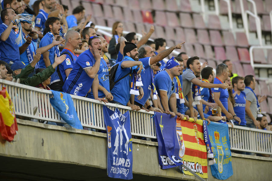 Las peñas azules se dejaron sentir en Barcelona