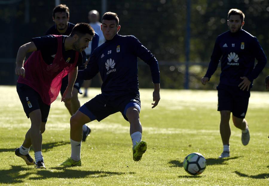 Entrenamiento del Real Oviedo (23/10/2017)