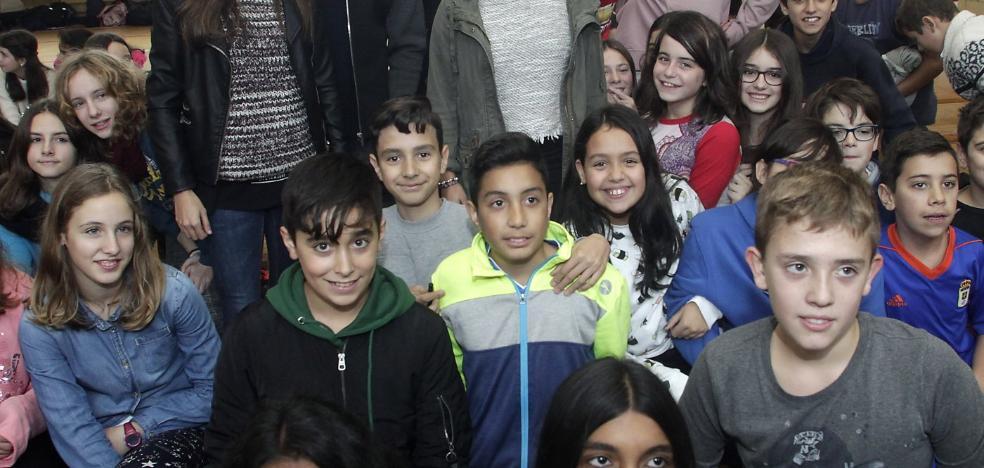 Los oviedistas visitan el IES Pando